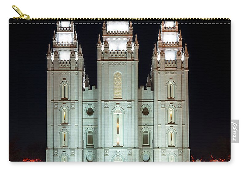 Temple Carry-all Pouch featuring the photograph Temple Lights by Dustin LeFevre