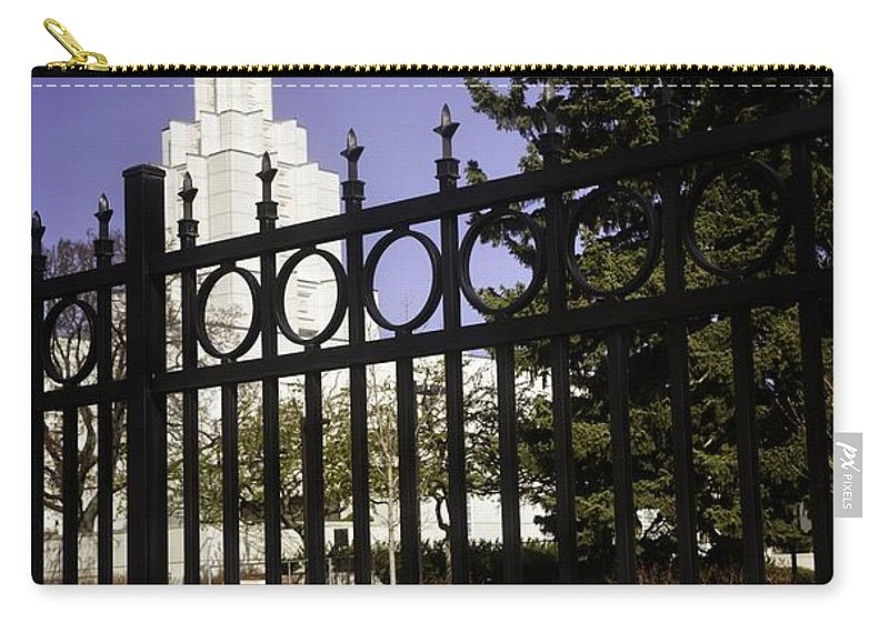 Idaho Falls Carry-all Pouch featuring the photograph Temple Of Idaho Falls by Image Takers Photography LLC - Carol Haddon