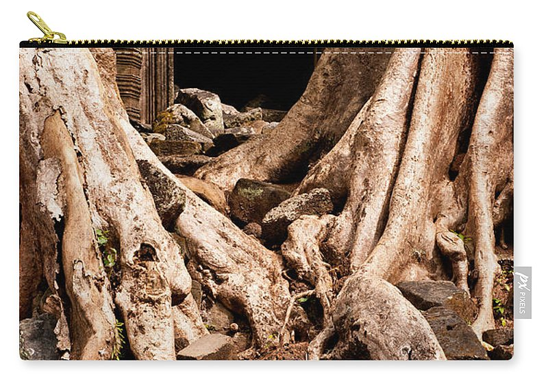 Ruined Carry-all Pouch featuring the photograph Temple Ruins 02 by Rick Piper Photography
