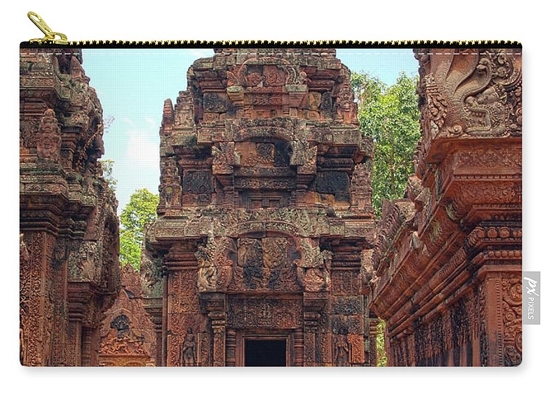 Cambodian Culture Carry-all Pouch featuring the photograph Temple by William Childress