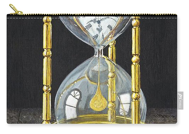 Still Life Carry-all Pouch featuring the painting Tempus Pecunia Est by Richard Harpum