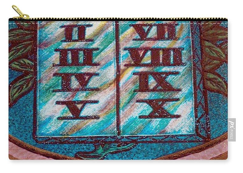 Ten Commandments Carry-all Pouch featuring the photograph Ten Commandments Glass by Bob Pardue