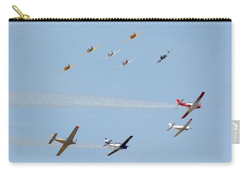 North Carry-all Pouch featuring the photograph Ten Warbird Flyby by Matt Abrams