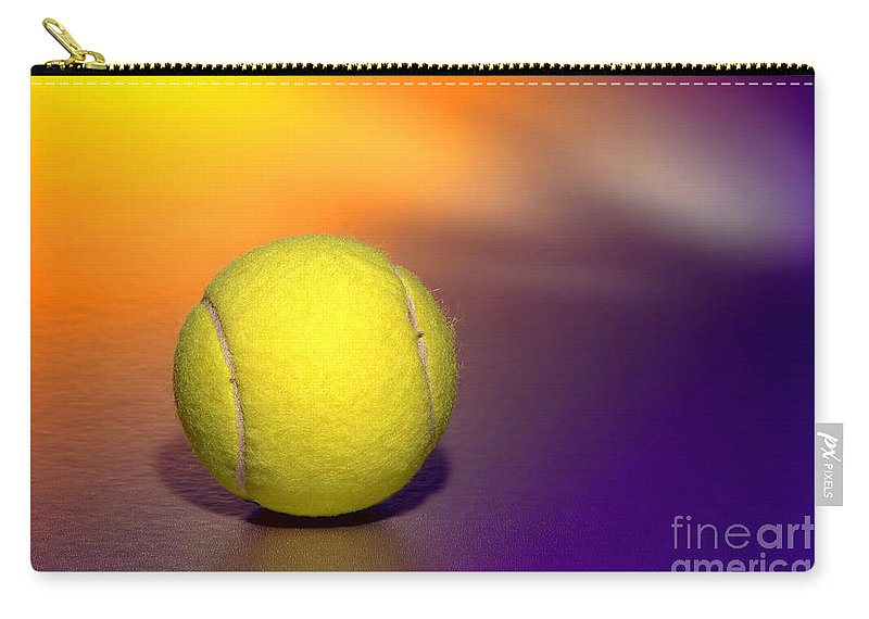 Tennis Carry-all Pouch featuring the photograph Tennis Ball by Olivier Le Queinec
