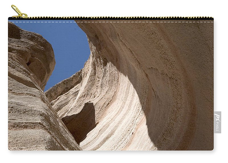 Tent Rocks Carry-all Pouch featuring the photograph Tent Rocks by Steven Ralser