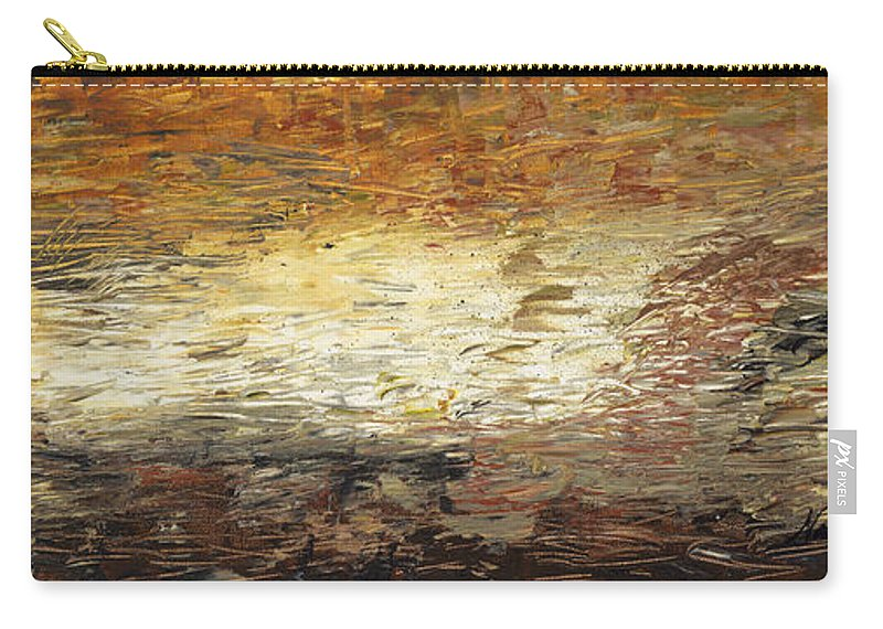 Terra Carry-all Pouch featuring the painting Terra by Nadine Rippelmeyer