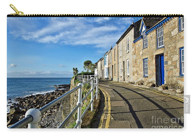 Mousehole Carry-all Pouch featuring the photograph Terraced Cottages At Mousehole by Susie Peek