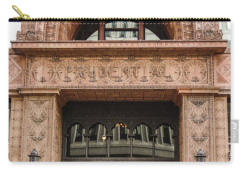 Terracotta Building Carry-all Pouch featuring the photograph Terracotta Building by Eric Swan