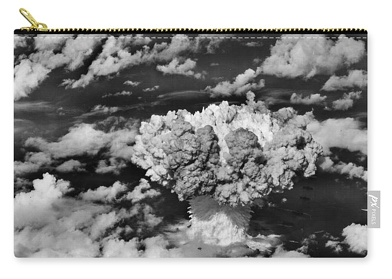 Atomic Carry-all Pouch featuring the photograph Test Baker by Benjamin Yeager