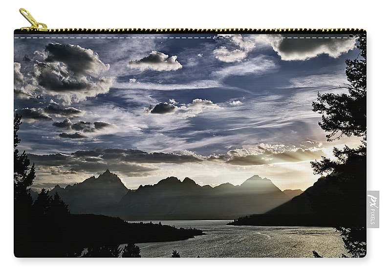 Wyoming Carry-all Pouch featuring the photograph Teton Range Sunset by Leland D Howard