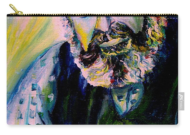 Tevye Fiddler On The Roof Carry-all Pouch featuring the painting Tevye Fiddler On The Roof by Carole Spandau