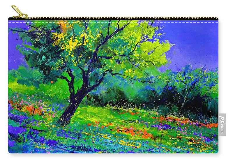 Landscape Carry-all Pouch featuring the painting Texan oak 764110 by Pol Ledent
