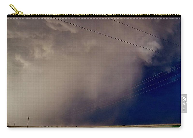Hail Carry-all Pouch featuring the photograph Texas Hailshaft by Ed Sweeney