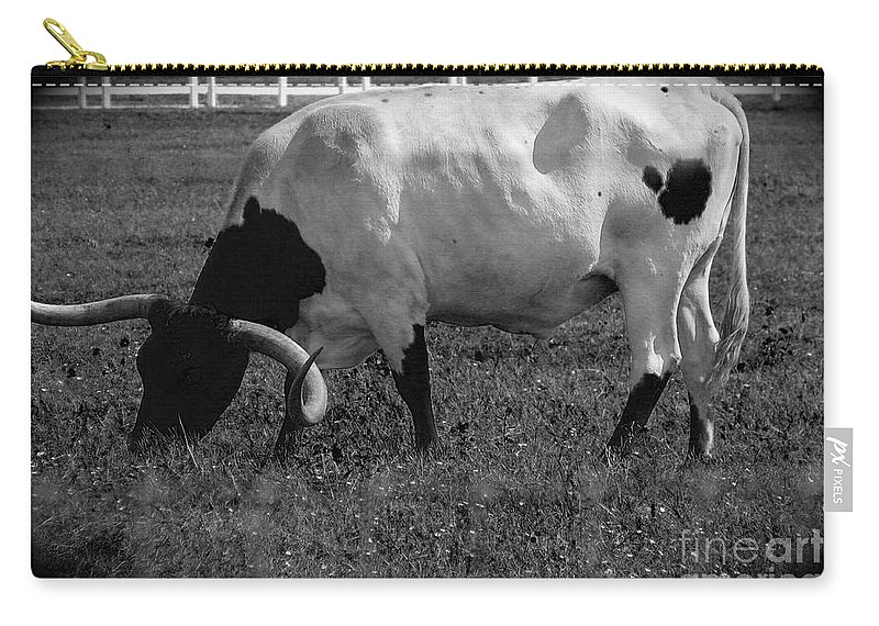 Cattle Carry-all Pouch featuring the photograph Texas Longhorn Iv by Anita Lewis