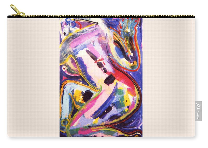 Nude Woman Carry-all Pouch featuring the painting Texas Nude by Matthew Brzostoski