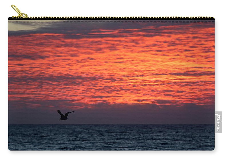 Topsail Carry-all Pouch featuring the photograph Texture With Bird by Rand Wall