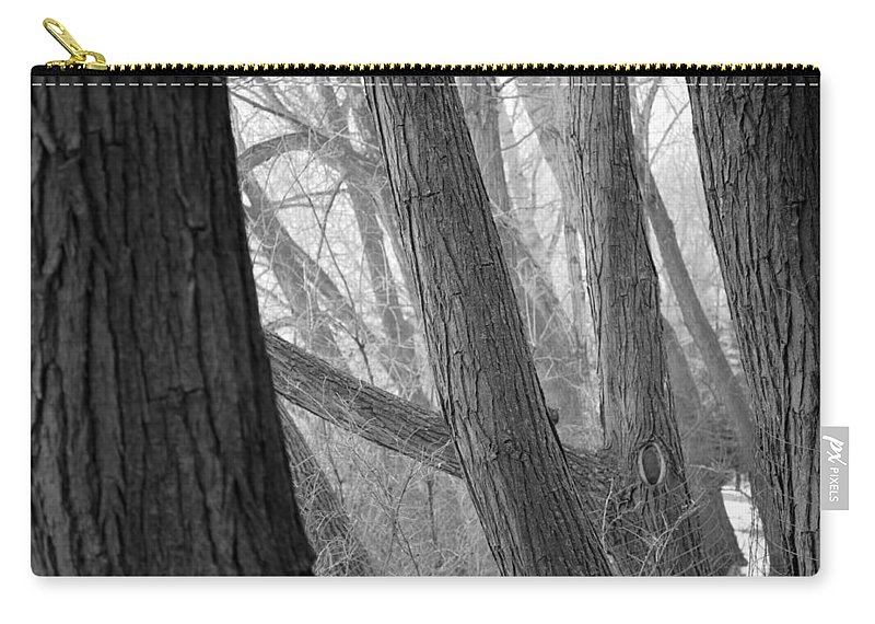 Trees Carry-all Pouch featuring the photograph Textures by Stephanie Bland