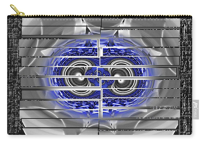 Fractal Art Carry-all Pouch featuring the digital art Th Fractal's Shadows by Mario Carini