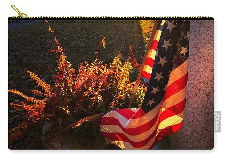 Patriotic Carry-all Pouch featuring the photograph Thank You For Serving by Robert McCubbin