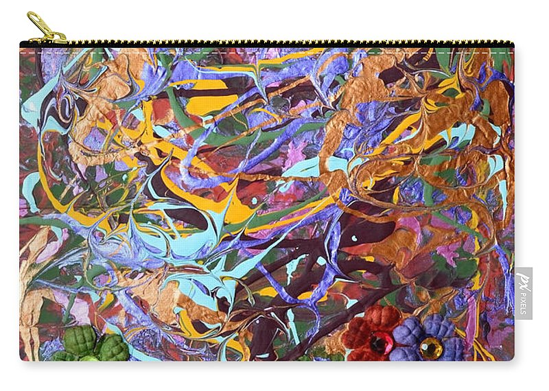 Tmodern Carry-all Pouch featuring the mixed media Thanksgiving by Donna Blackhall