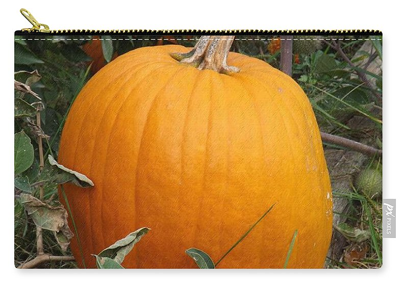 Orange Carry-all Pouch featuring the photograph Thanksgiving Harvest by Sara Raber
