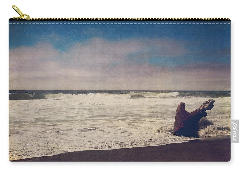 Manchester State Beach Carry-all Pouch featuring the photograph That Dirty Game Recaptures Me by Laurie Search