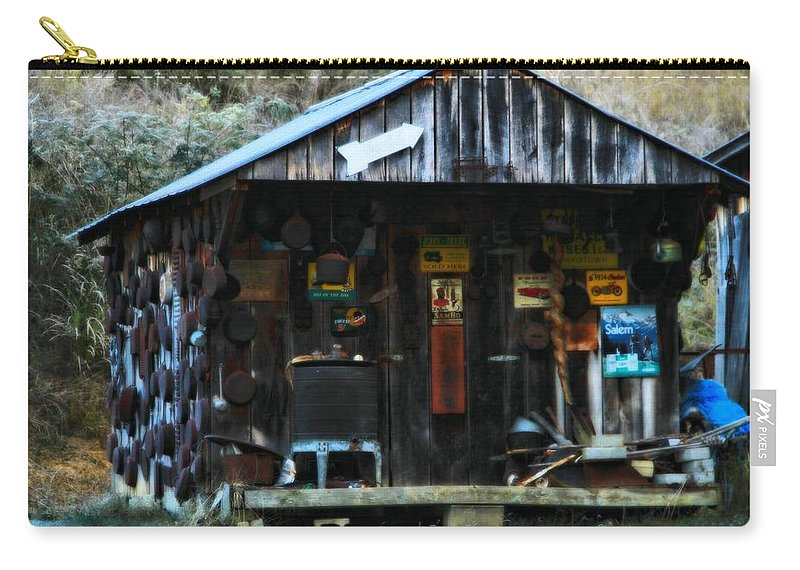 That Old Shack Carry-all Pouch featuring the photograph That Old Shack by Dan Sproul