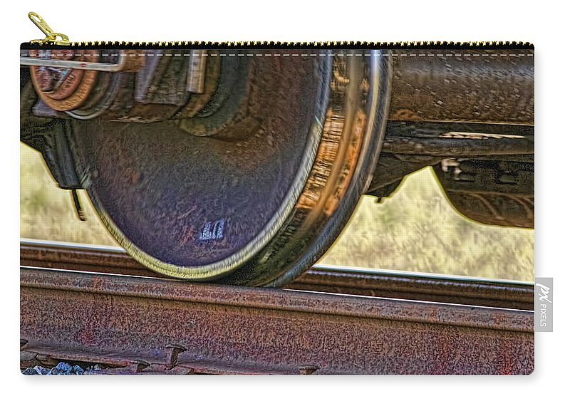 Train Carry-all Pouch featuring the photograph That Train Just Keeps A Rollin by Gary Holmes