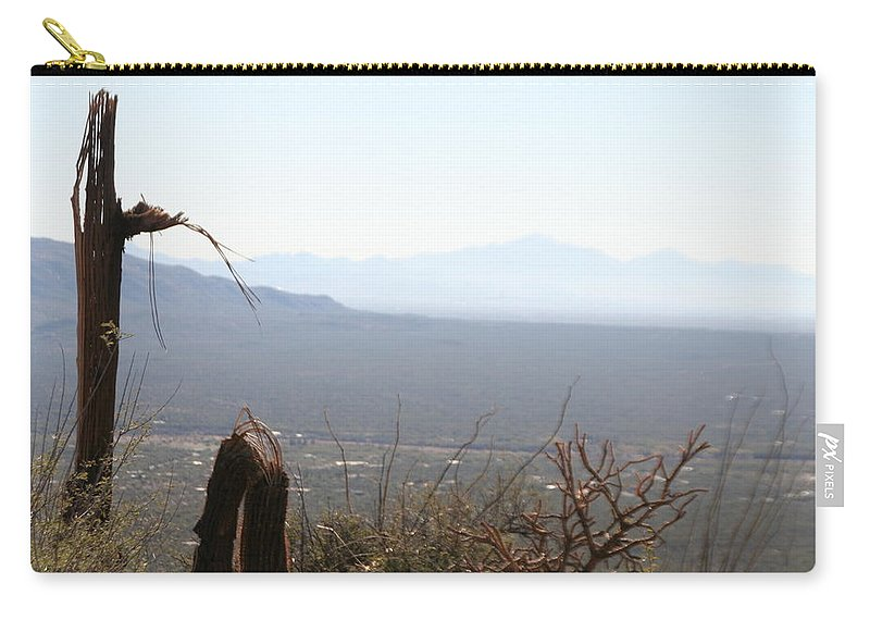 Saguaro Carry-all Pouch featuring the photograph Thataway by David S Reynolds