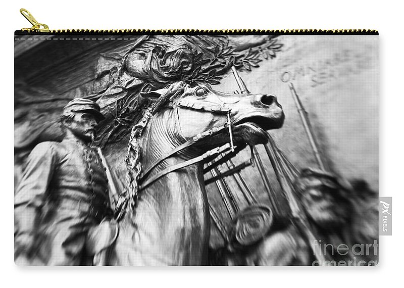 Black & White Carry-all Pouch featuring the photograph The 54th by Scott Pellegrin