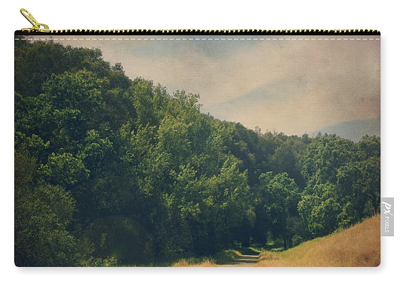 Sunol Regional Wilderness Carry-all Pouch featuring the photograph The Adventure Begins by Laurie Search