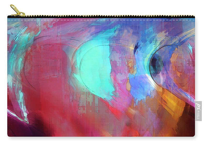 Abstract Carry-all Pouch featuring the digital art The Afterglow by Linda Sannuti