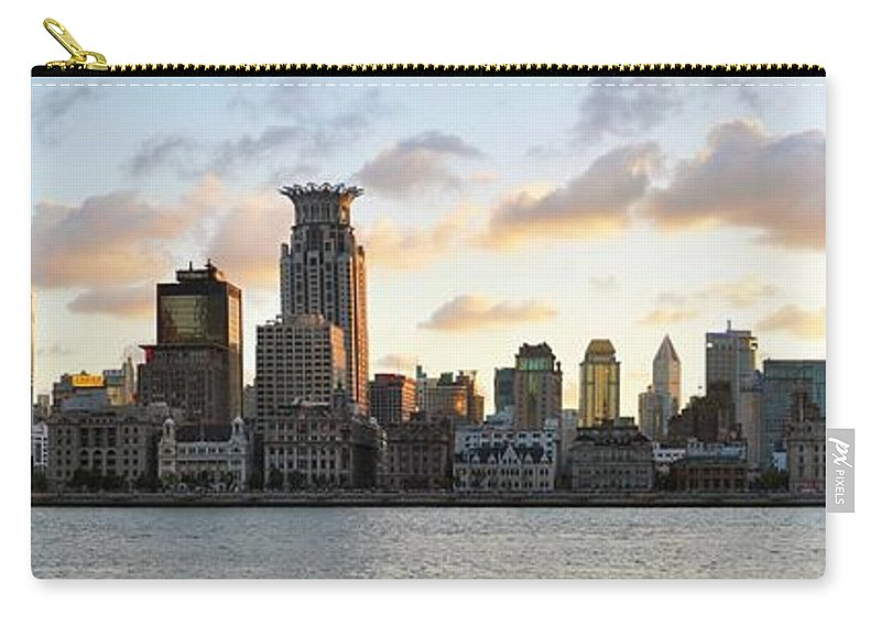Panoramic Carry-all Pouch featuring the photograph The Afternoon Of The Bund Buildings by Fine