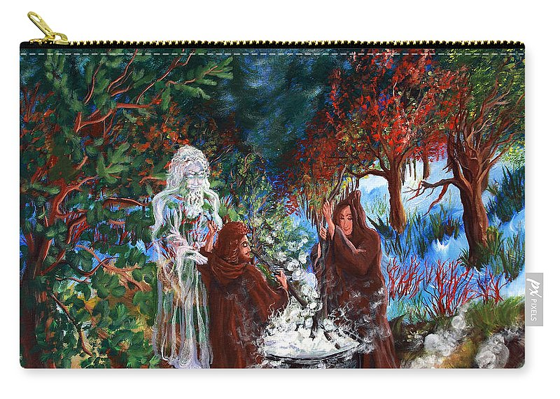 Spiritual Carry-all Pouch featuring the painting The Alchemists by Joyce Jackson