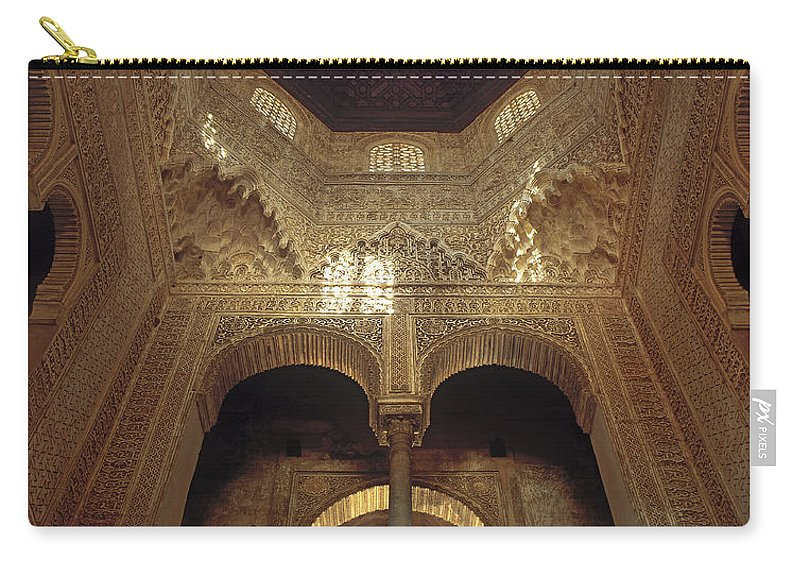 Alhambra Carry-all Pouch featuring the photograph The Alhambra The Infantas Tower by Guido Montanes Castillo