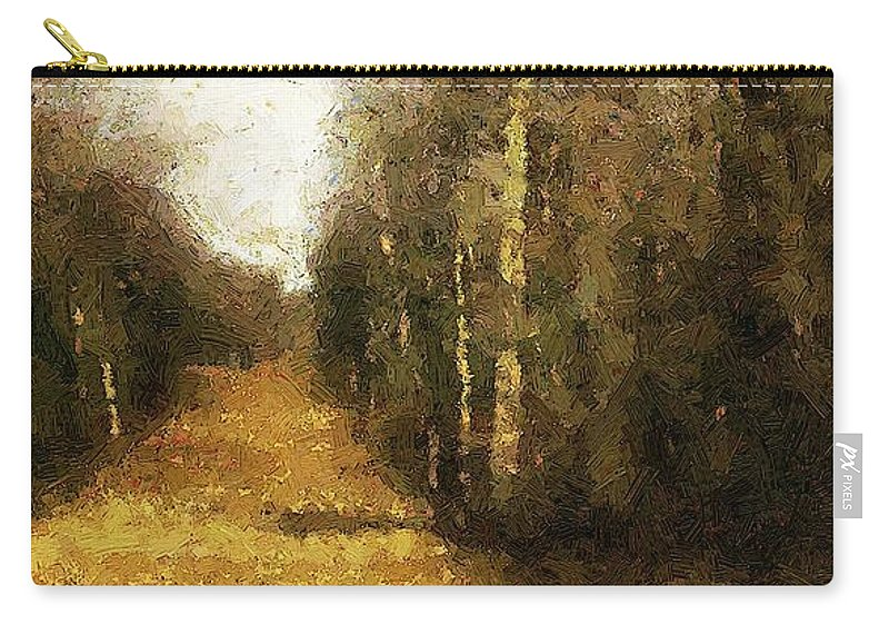 Autumn Carry-all Pouch featuring the painting The Allee At Dawn by RC DeWinter