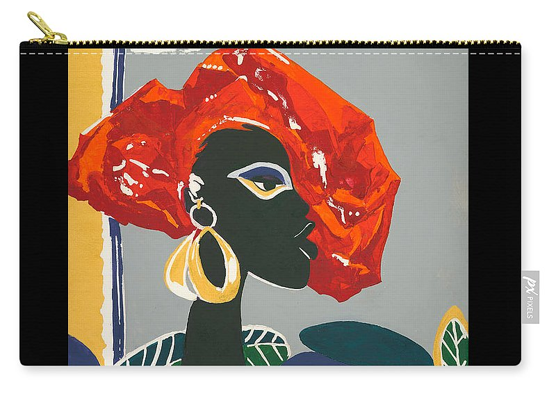 Black Carry-all Pouch featuring the painting The Ambassador by Elisabeta Hermann