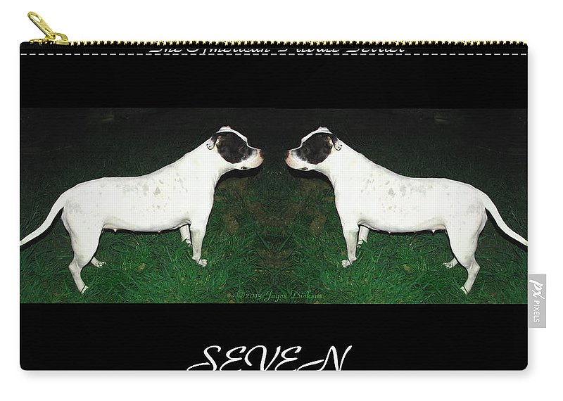 Pitbull Carry-all Pouch featuring the photograph The American Pitbull Terrier by Joyce Dickens