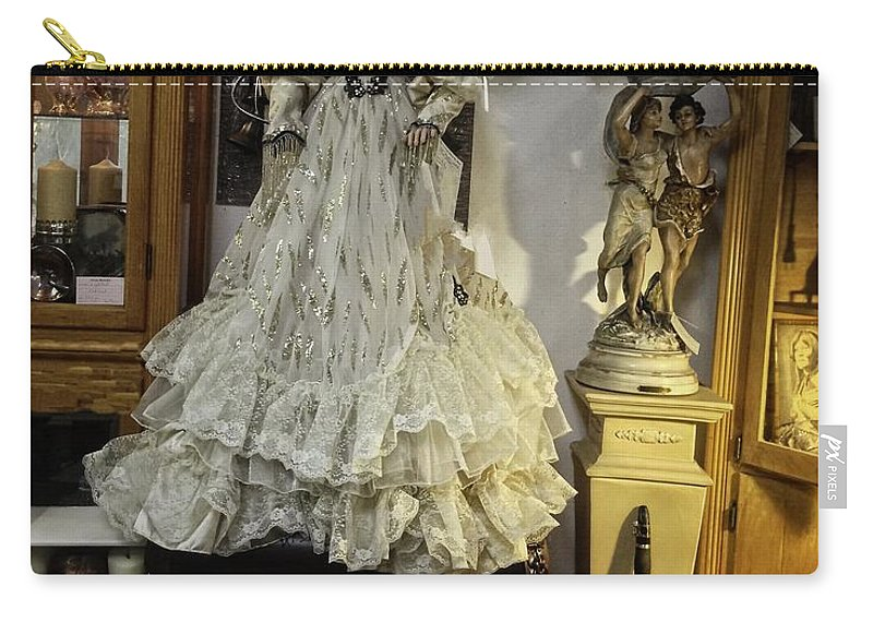 Antique Carry-all Pouch featuring the photograph The Antique Doll by Image Takers Photography LLC - Carol Haddon