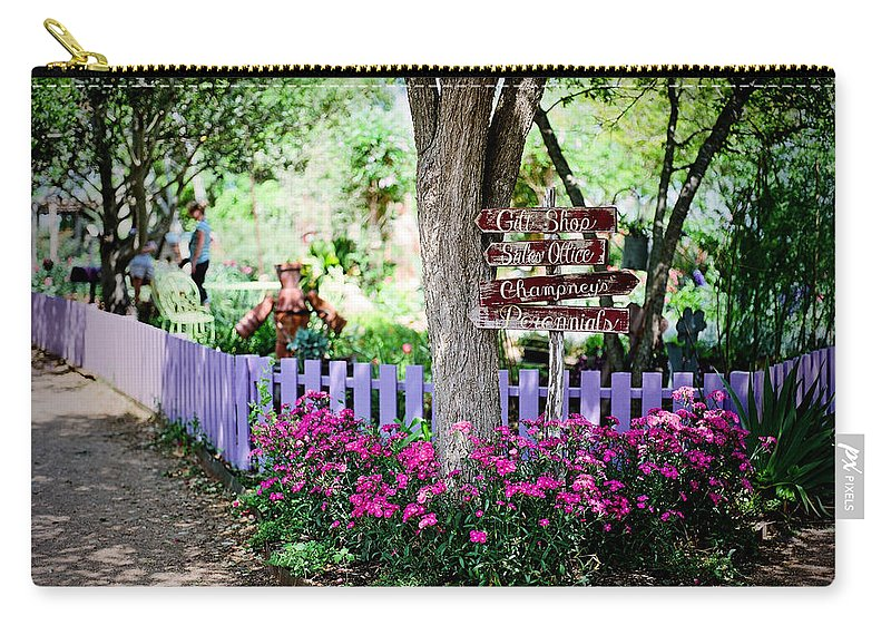 Gardens Carry-all Pouch featuring the digital art The Antique Rose Emporium by Linda Unger