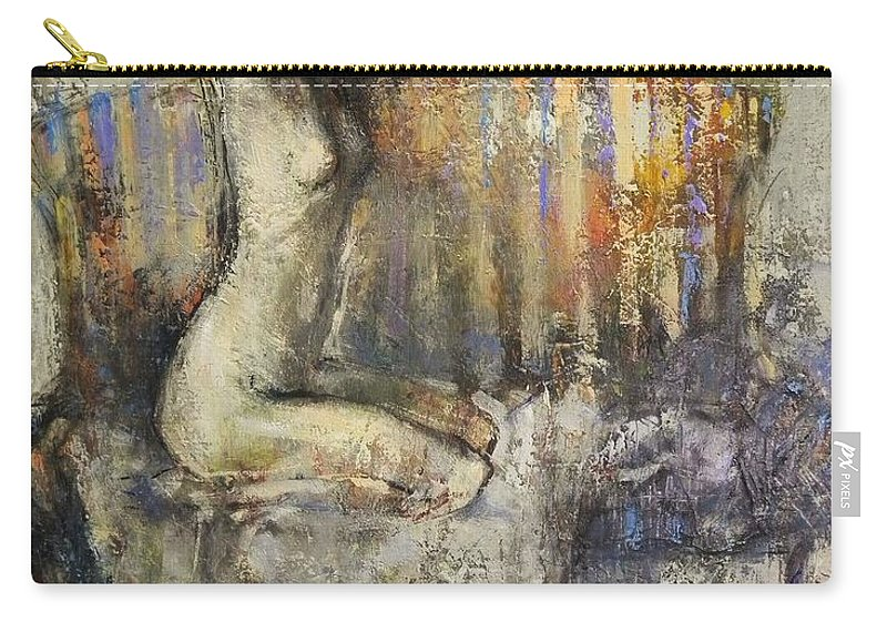 Nude Carry-all Pouch featuring the painting The Antique Sofa by Grigor Malinov