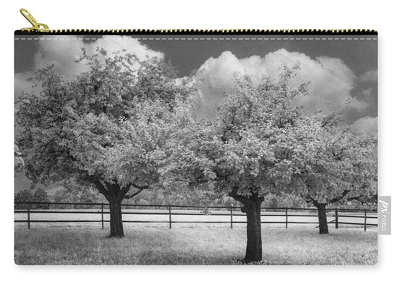 Cloud Carry-all Pouch featuring the photograph The Apple Orchard by Debra and Dave Vanderlaan