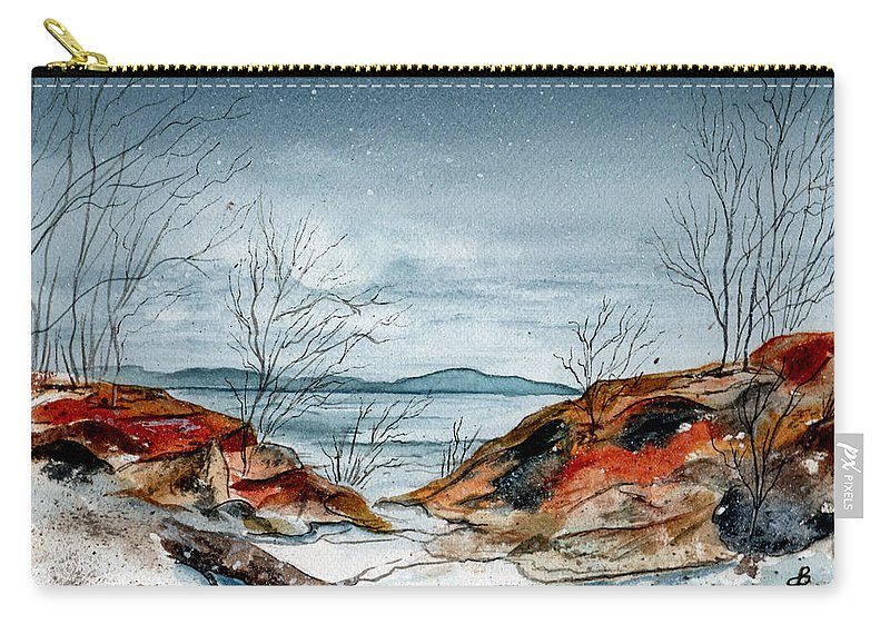 Watercolor Carry-all Pouch featuring the painting The Approaching Evening by Brenda Owen