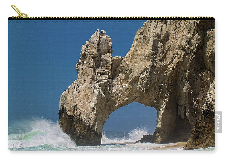 Scenics Carry-all Pouch featuring the photograph The Arch Of Los Cabos San Lucas by Marc Javelly