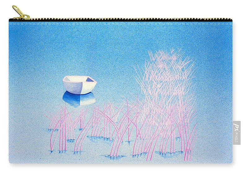 Blue Carry-all Pouch featuring the painting The Arrival by Daniele Zambardi