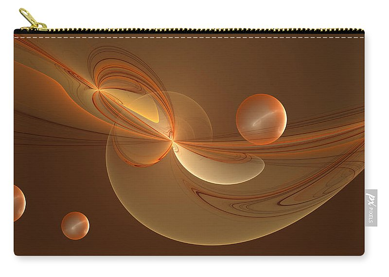 Abstract Carry-all Pouch featuring the digital art The Arrival by Gabiw Art