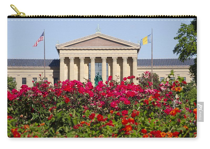 Art Carry-all Pouch featuring the photograph The Art Museum In Summer by Bill Cannon