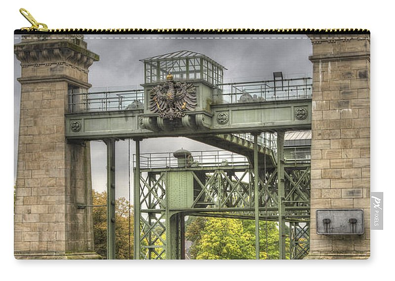 Heiko Carry-all Pouch featuring the photograph The Art Nouveau Ships Elevator - Portal View by Heiko Koehrer-Wagner