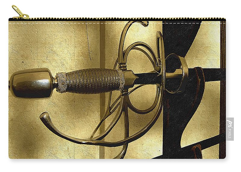 Sword Carry-all Pouch featuring the painting The Art Of The Sword by RC DeWinter