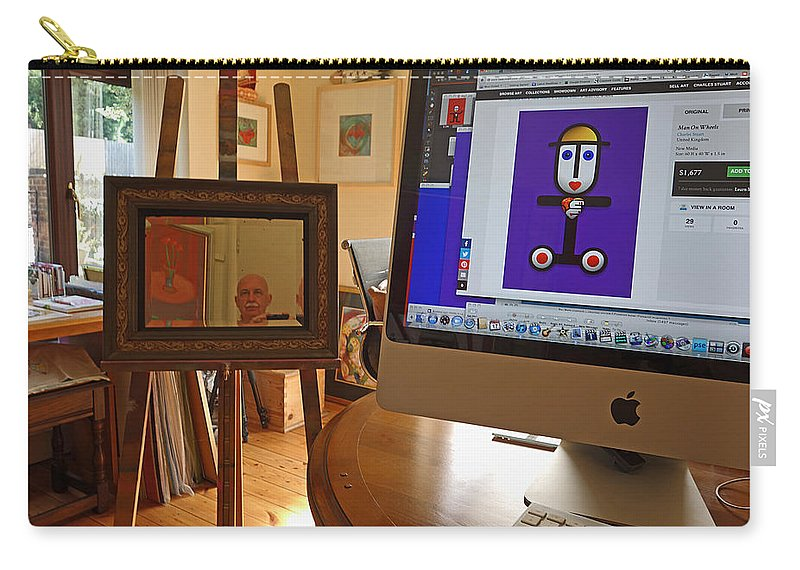 Me Carry-all Pouch featuring the painting The Artist In His Studio by Charles Stuart